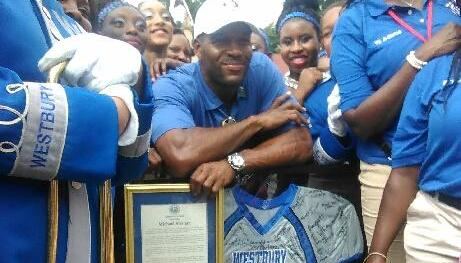 WHS @ Michael Strahan @ Hall of Fame Parade