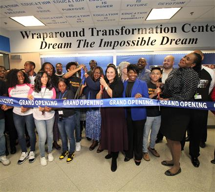 Westbury HIgh School holds Grand Opening of their new Wraparound Transformation Center.