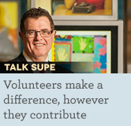 Volunteers make a difference, however they contribute