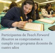 Teach Forward Houston fellows commit to four-year teaching program