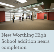 New Worthing High School addition nears completion