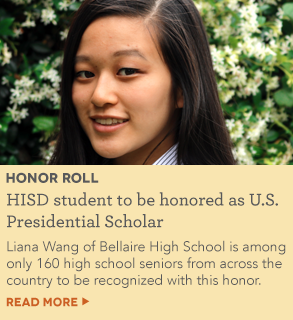 HISD student to be honored as U.S. Presidential Scholar in Washington, D.C.