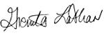 Grenita Lathan's signature
